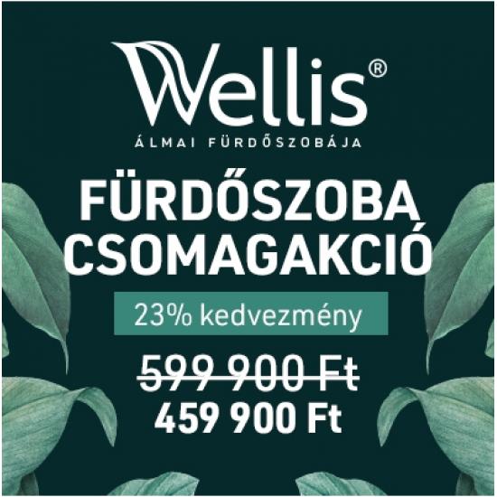 WELLIS - Fürdőszoba csomagakció 23% kedvezmény